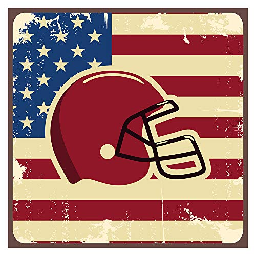 Wandtattoo Kinderzimmer USA Wandsticker Football Helm mit Amerika Flagge Wandta