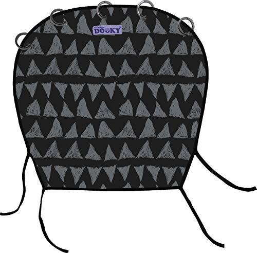 Dooky Universal Cover Black Tribal protection solaire, protection contre les intempéries pour siège de bébé, poussette et voiturette (protection UV SPF 40+, testé TÜV, ajustement universel), noir