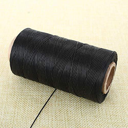 ANNIUP - 1 bobinas de Hilo de cáñamo Encerado Natural, 1 mm de Cuerda de Costura Plana Encerada para tapicería de Cuero, Manualidades, Carteras de Cuero para Coser a Mano y Hechas a Mano
