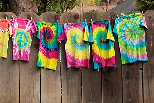 Tulip One-Step Tie-Dye Kit Party Creative Group Activities, All-in-1 DIY Fashion Dye Kit, Rainbow |