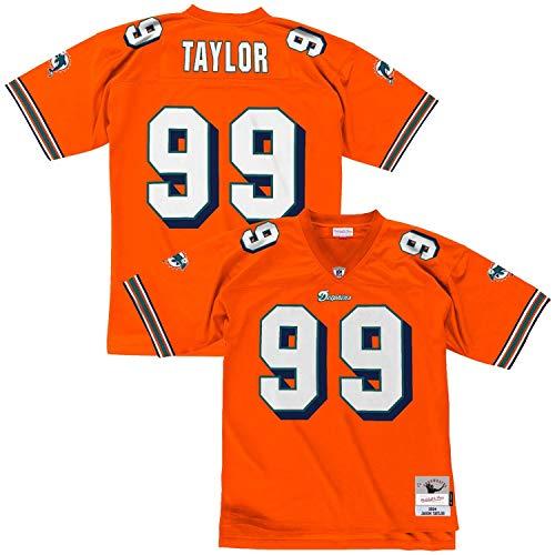 Mitchell & Ness Jason Taylor #99 Miami Dolphins Legacy Throwback NFL Trikot Orange, M