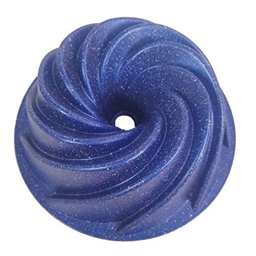 SODIAL Grande Forme de Spirale en Aluminium Moule à Gateau Moule 3D Cannelé Moule à Gateau pour Pain Boulangerie Outils de Cuisson Ustensiles de Cuisson Bleu Foncé