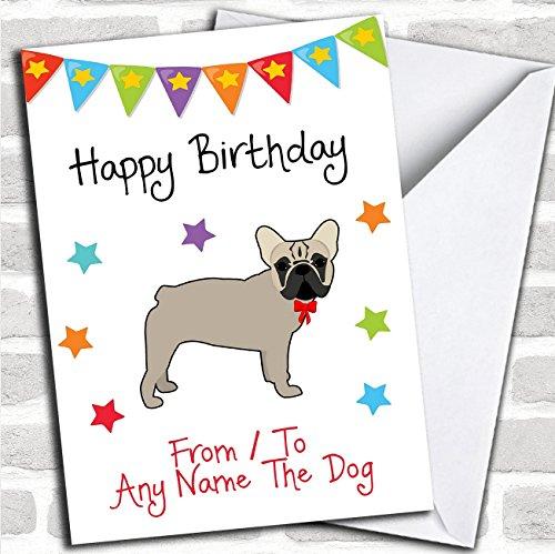 Van huisdier hond Franse Bulldog aangepaste verjaardagskaart