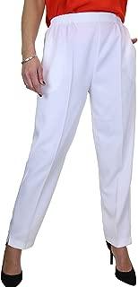 womens white trousers elasticated waist