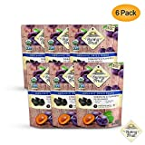 ORGANIC Prunes - Sunny Fruit - (6 Bags) - (5) 1.06oz Portion Packs per Bag | Purely Dried Plums - NO Added Sugars, Sulfurs or Preservatives | NON-GMO, VEGAN & HALAL