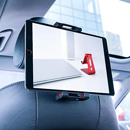 Lamicall Tablet Halterung Auto, Universal Tablet Halterung - KFZ-Kopfstützen Halter für 2020 iPad Pro 9.7, 10.5, 12.9, iPad Air mini 2 3 4, Samsung Tab, Smartphone und Tablet mit 4.7-13 Zoll - Rot