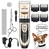 oneisall Dog Shaver Clippers Low Noise Rechargeable Cordless Electric...