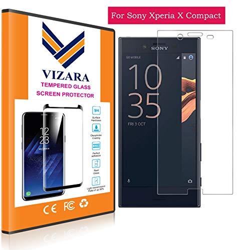 VIZARA™ 0.3 mm 9H Flexible Gorilla Guard Tempered Glass Screen Protector Shield for Sony Xperia X Compact