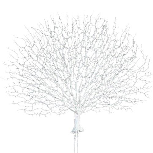 WINOMO Künstliche Korallen Pflanze dekorative Aquarium Ornament für Aquarium Dekoration (weiß)
