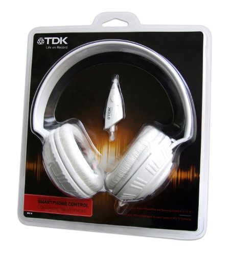 TDK MPi100 - Auriculares de diadema cerrados (con cable de 1.2 metros), blanco