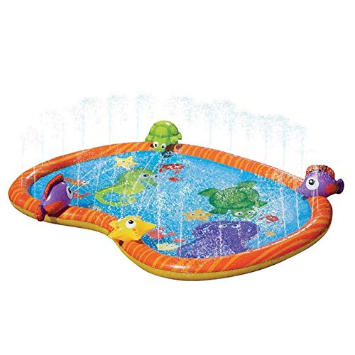 Iwinna Sprinkler Splash Play Pad-Water Sprinkler Pool Kids Sprinkler Splash Pad Wading Pool For Learning Children Sprinkler Water Toy For Kids Aged 3 and Up Outdoor Water Fun