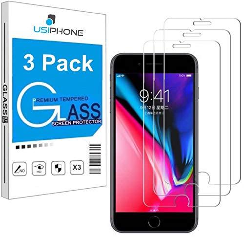 """Lot de 3 Verre Trempé pour iPhone 7 Plus, iPhone 8 Plus (5.5"""") Film Protection écran HD [3 Pack] Anti Rayures - sans Bulles d'air - Ultra Résistant [0,33mm] Dureté 9H Glass"""