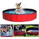 DY_Jin Piscina portátil, Piscina Plegable para Perros Grandes, bañera, baño, Lavabo, baño para Perros/Gatos, Animales al Aire Libre o bajo Techo (160 * 30 CM)