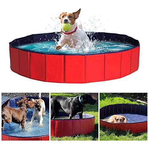 DY_Jin Piscina portátil, Piscina Plegable para Perros Grandes, bañera, baño, Lavabo, baño para Perros/Gatos, Animales al Aire Libre o bajo Techo (120 * 30 CM)