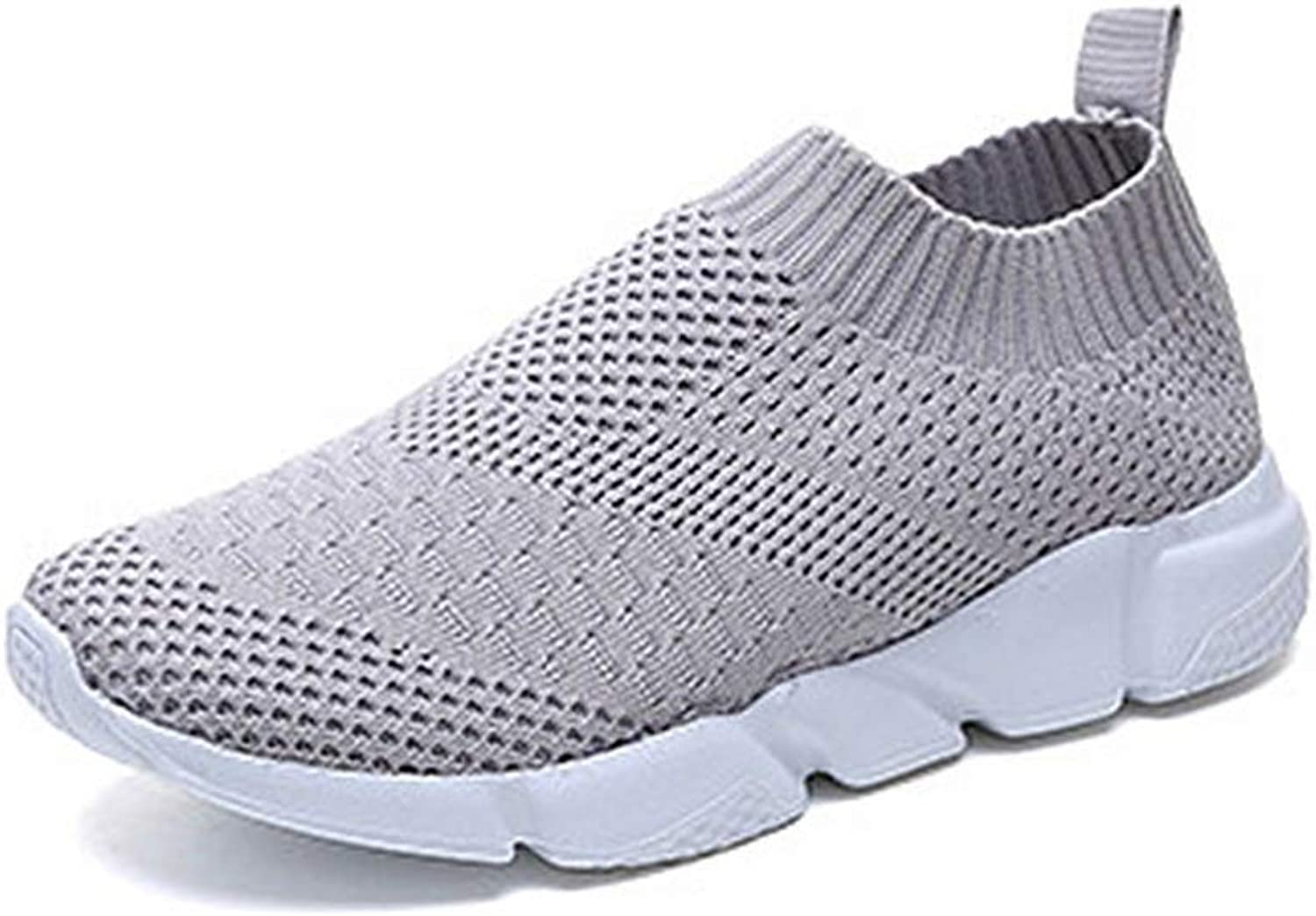 T-JULY Women Socks shoes Stretch Knitted Slip on Anti Skid Ankle Flat Casual Breathable Thick Rubber Sole Trainer shoes