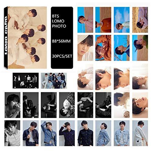 Yovvin 30 Stück BTS Fotokarten, KPOP BTS/EXO / GOT7 / NCT/BIG BANG/TWICE/SEVENTEEN/WANNA ONE Photocard, Sammlung und Beste Geschenk für The ARMY und The Fans (BTS)