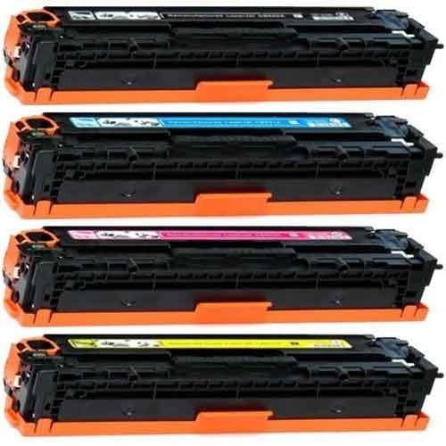 CE320A CE321A CE322A CE323A / 128A, Toner Compatibili per HP LASERJET PRO CP1525N, Durata Nero: 2.000 pagine al 5% di copertura, Durata colori: 1.300 pagine al 5% di copertura, Nero, Ciano, Magenta, Giallo.