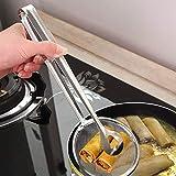 Sanzhileg Cucchiaio filtrante in Acciaio Inox Multi-Funzionale con Clip Cibo Cucina in Acc...