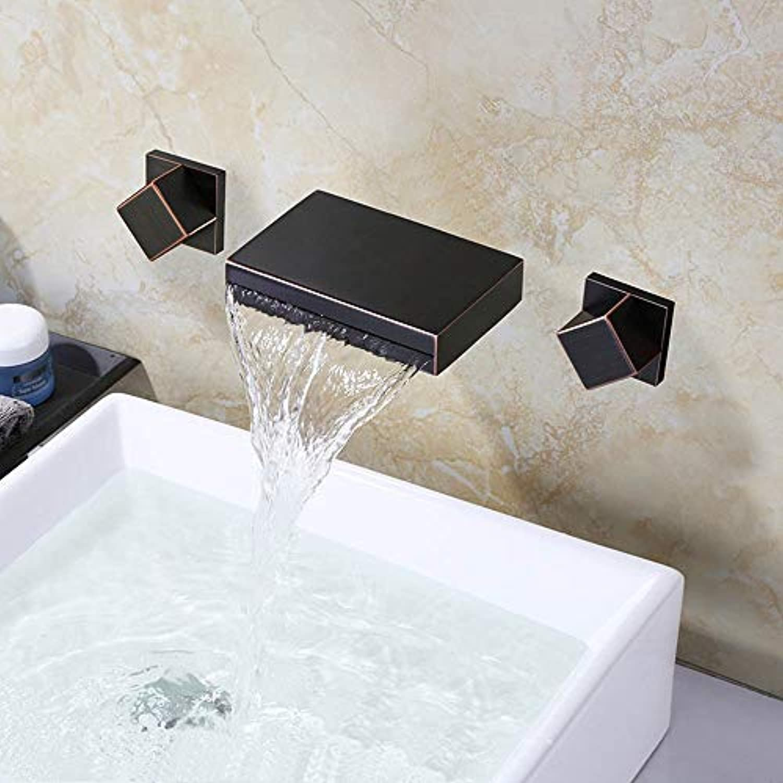 Yuanshuai88-Faucet Antiker verborgener Wasserhahn an der Wand befestigter kupferner heier und kalter Wasserhahn