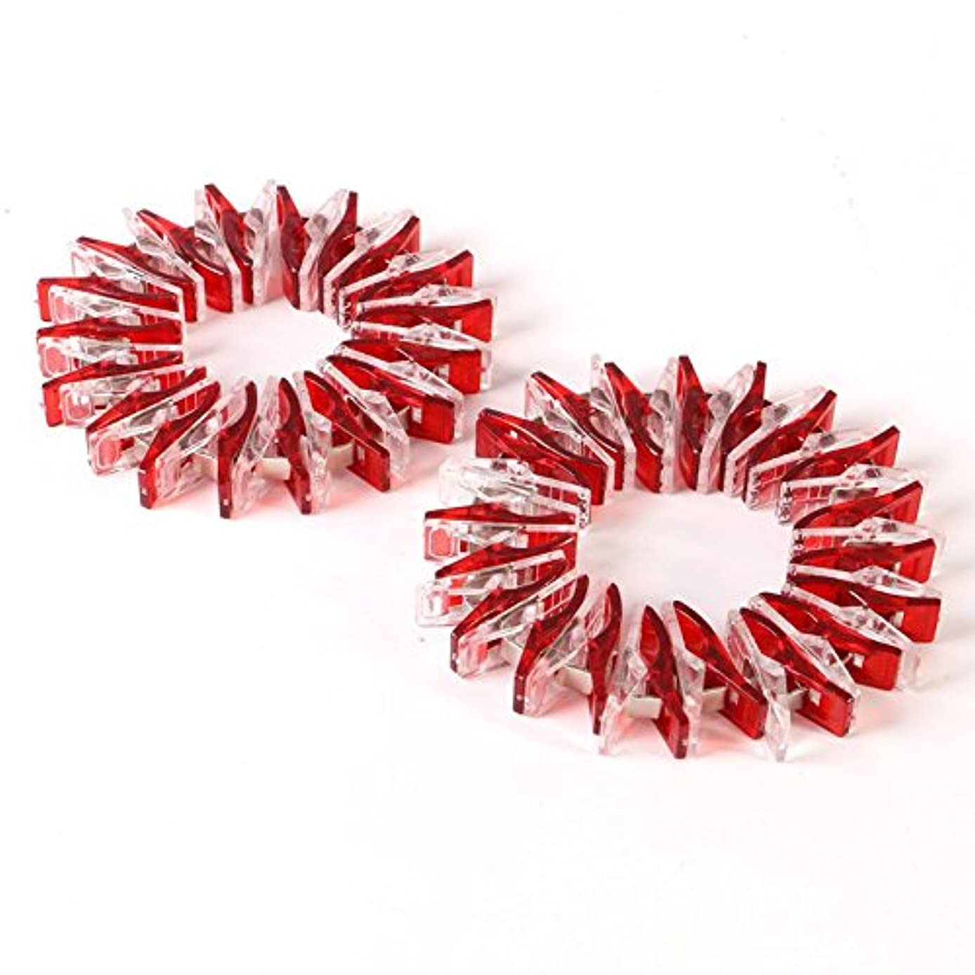 LNKA Wonder Clips 50pcs Quilter Clamps DIY Tools Plastic Sewing Crochet Transparent Small Package Edge Clip 9 Colors for Choose (Red-50pcs)