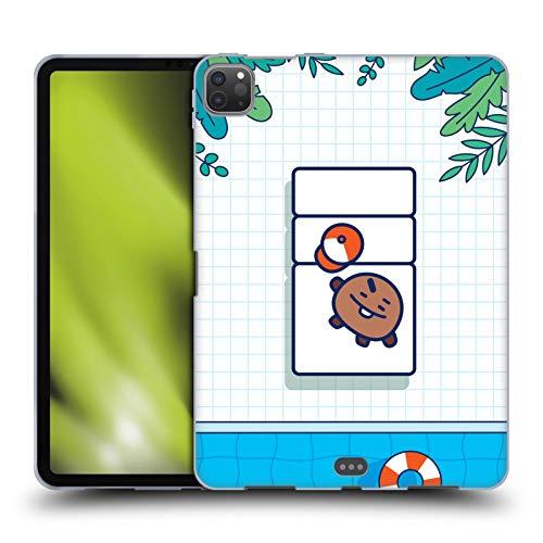 Official BT21 Line Friends SHOOKY Bon Voyage Poolside Lounge Soft Gel Case Compatible for Apple iPad Pro 11 (2020)