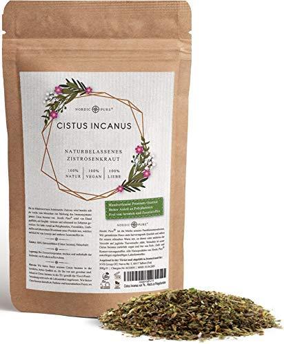 Premium Zistrosenkraut 250 g - Cistus Incanus Tee 100% Natur mit Frischeverschluss – schadstofffreies Naturprodukt - reich an Polyphenolen