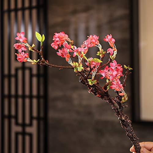 GANHUA Simulatie van jasmijn decoratieve decoratie sleutelbloem simulatie korte tak pruim bloesem tak perzik bloesem tak kersenbloesem Chinese bloem arrangement Primrose (rose red)