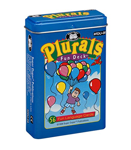 Super Duper Publications Plurals Fun Deck Flash Cards Educational Learning Resource for Children