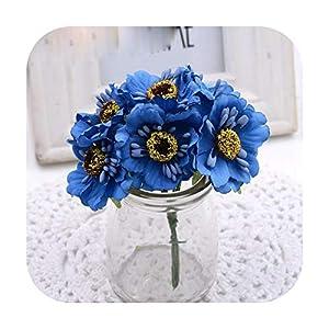 ANPorterWarren 6Pcs 3.5Cm Mini Silk Cherry Artificial Poppy Bouquet DIY Handmade Wreath Scrapbook Wedding Decoration Craft Fake Flower