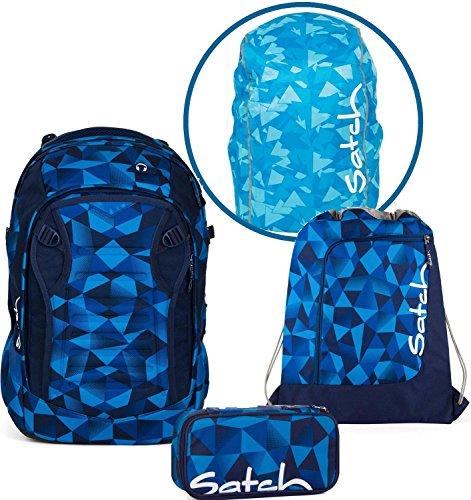 Satch Schulrucksack-Set 4-TLG Match Blue Crush blau