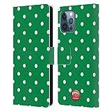 Head Case Designs Licenza Ufficiale Animal Club International Puntini Polka Verdi Patterns Cover in Pelle a Portafoglio Compatibile con Apple iPhone 12 PRO Max