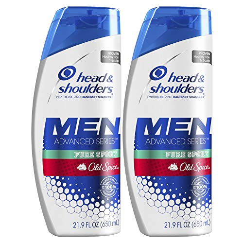 Head and Shoulders Shampoo, Anti Dandruff Treatment and Scalp Care, Old Spice Pure Sport, 21.9 Fl...