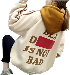 Women Hoodies Sweatshirt Coat, Ladies Back Letter Printed Long Sleeve Loose Pullover Outwear