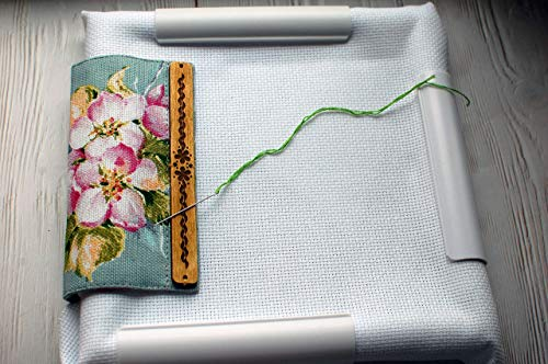 Universal Magnetic Grime Guard Flowers - Embroidery Magnet Protector Cover for qsnap frame scroll rods any size & hoop Needle Minder Pattern Holder