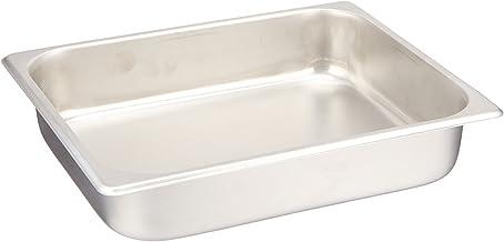 """Standard Stainless Steel Half-Size Steam Table Pan - 2-1/2"""" Deep (24 gauge). (2) Pack"""