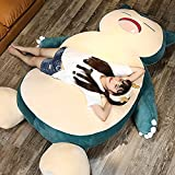 Giant Snorlax Plush Snorlax Pillow Large Size 100/150/200cm Snorlax Stuffed Animal Toy with Zipper for Girlfriend Birthday Snorlax Bed(Shown-3, 100cm)