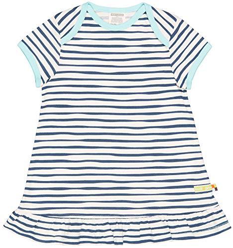 loud + proud Baby - Mädchen Kleid mit Druck, aus Bio Baumwolle, GOTS zertiziziert, Blau (Ultramarin Ul), 80 (Herstellergröße: 74/80)