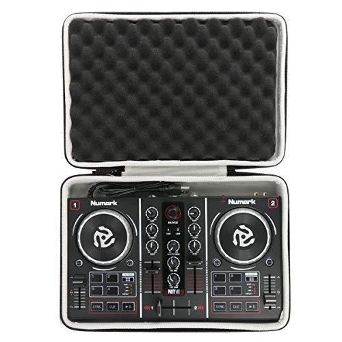 Khanka Dur Cas étui de Voyage Housse Porter pour Numark Party Mix Contrôleur DJ 2 Voies Plug-And-Play