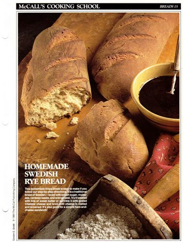 McCall's Cooking School Recipe Card: Breads 15 - Swedish Limpa Bread (Replacement Recipage / Recipe Card For 3-Ring Binders)