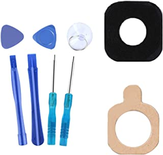 Back Camera Back Rear Camera Glass Lens Black Replacement + A Set of Repair Tools for Samsung Galaxy A3, A5, A7 (2016)