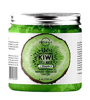 O Naturals Hydrating Kiwi & Cucumber Vegan Gel Mask for Face Vitamin E Face Moisturizer Organic Ingredients For Wrinkles Acne Pore Minimizer Sun Damage Boosts Collagen Hyaluronic Acid For Women & Men