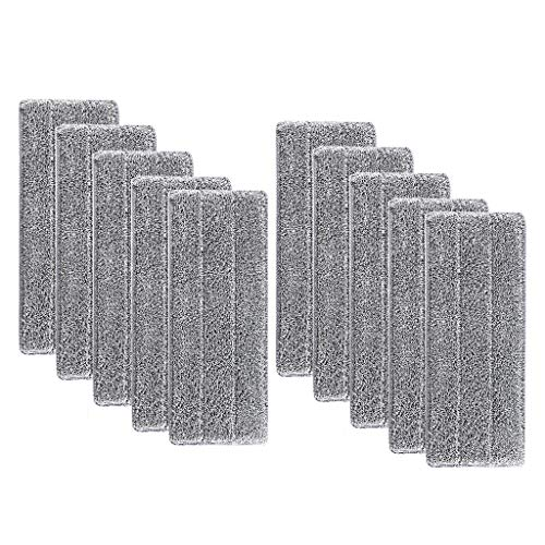 NRRN 10 almohadillas de microfibra lavables para fregona, fregona de polvo, mopa para el hogar, fregona con rociador de suelo para cocina en el hogar