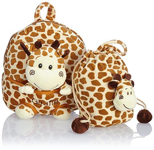 HAUPTSTADTKOFFER 3-teiliger Kinderrucksack · 4,5 Liter · Braun · 5 Modelle (Giraffe)