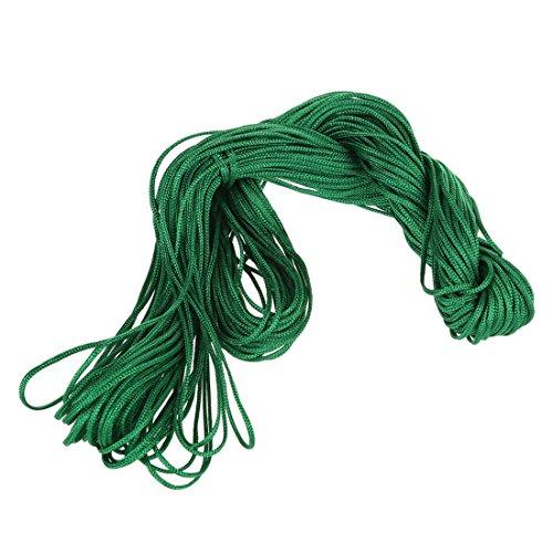 Vasko - 1 rollo de 25 m de hilo de nailon chino con cadena trenzada, color verde oscuro