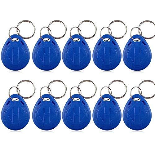 LUCINE 100pcs 125KHz RFID Keychains RFID Proximity Tag Blue Key fobs for Door Entry Access Control System TK4100/EM4100 (100IDPCS-Blue)