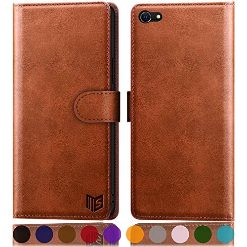 SUANPOT for iPhone 6 / 6S 4.7 inch (Non 6Plus/6SPlus 5.5') with RFID Blocking Leather Wallet case Credit Card Holder, Flip Folio Book Phone case Shockproof Cover Women Men for Apple 6 Light Brown