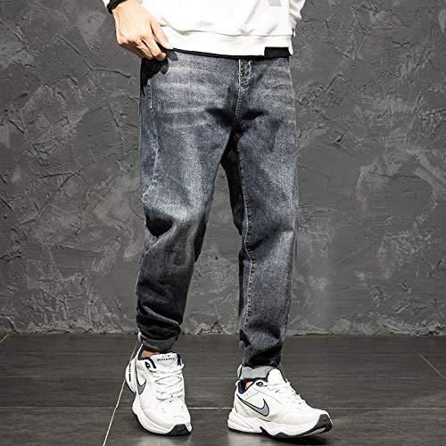 Jeans Jeans da Uomo Pantaloni Larghi Elasticizzati Lunghi Harem Plus Size Jeans Dritti da Donna Grassa Pantaloni Autunno Primavera Nuovi Jea