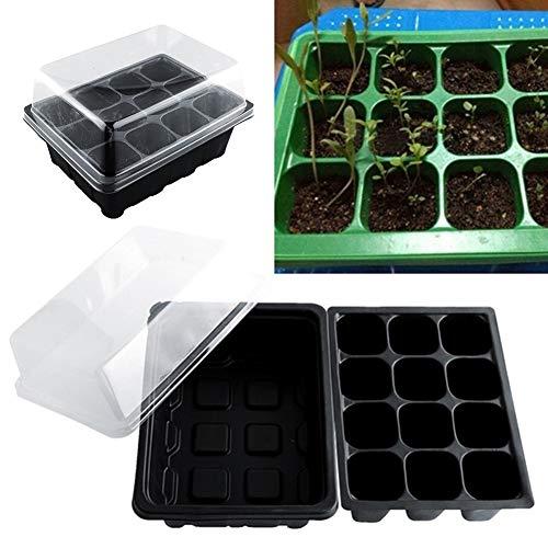 Little Finger, vaso da giardino con 12 fori, semi, propagazione, germinazione, plastica, Colore casuale, taglia unica