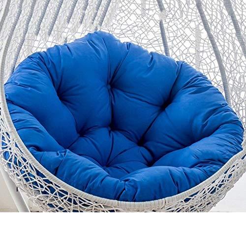 Weicher Hanging Verandaschaukel Terrasse Gartenstuhlkissen/verdicken Hänge Egg Hängesessel Pads Stuhl Sitzpolster, komfortabel und sicher, 105x105cm (41 Zoll x 41 Zoll) (Farbe: blau) (kein Stuhl) WK