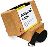 👍 DESIGNED BY YOGA INSTRUCTORS - As yoga instructors, we make our gear with our students in mind. Our premium cork yoga blocks are designed to remain sturdy, non-slip, and comfortable during any type of practice. We know that safety and support matte...